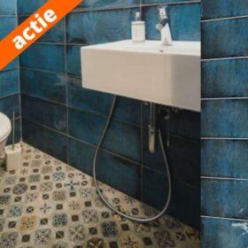 Cifre montblanc blue-20x50-Wandtegels blauw-Vlagsma tegelwalhalla