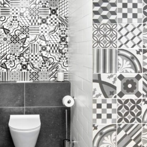 Nanda tiles-black&white-13x13-witjes-Vlagsma tegelwalhalla
