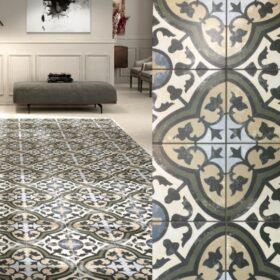 Pasicos boheme chandelier-Portugese tegels groen-Vlagsma tegelwalhalla
