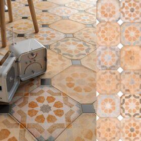 Vives lavertone octogone-Portugese tegels-Vlagsma tegelwalhalla