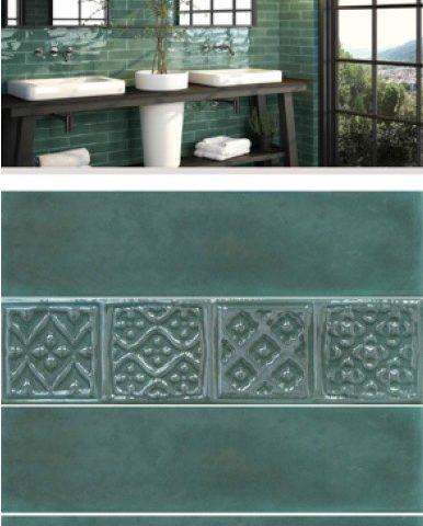 Badkamer tegels groen Vlagsma Tegels