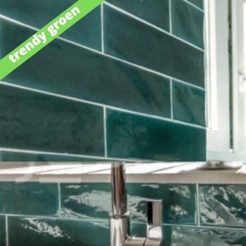 Cifre opal emerald-7,5x30-handvorm tegels-Vlagsma tegelwalhalla