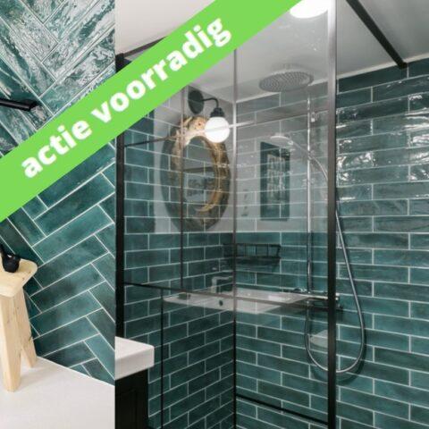 Cifre opal emerald-groene handvorm-7,5x30-Vlagsma tegelwalhalla