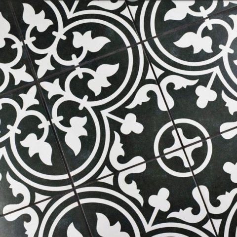 Vintage ceramic arte black Vlagsma tegelwalhalla
