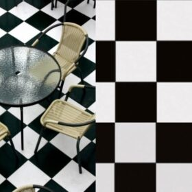 Pasicos zwart wit-25x25-vloertegels-Vlagsma tegelwalhalla