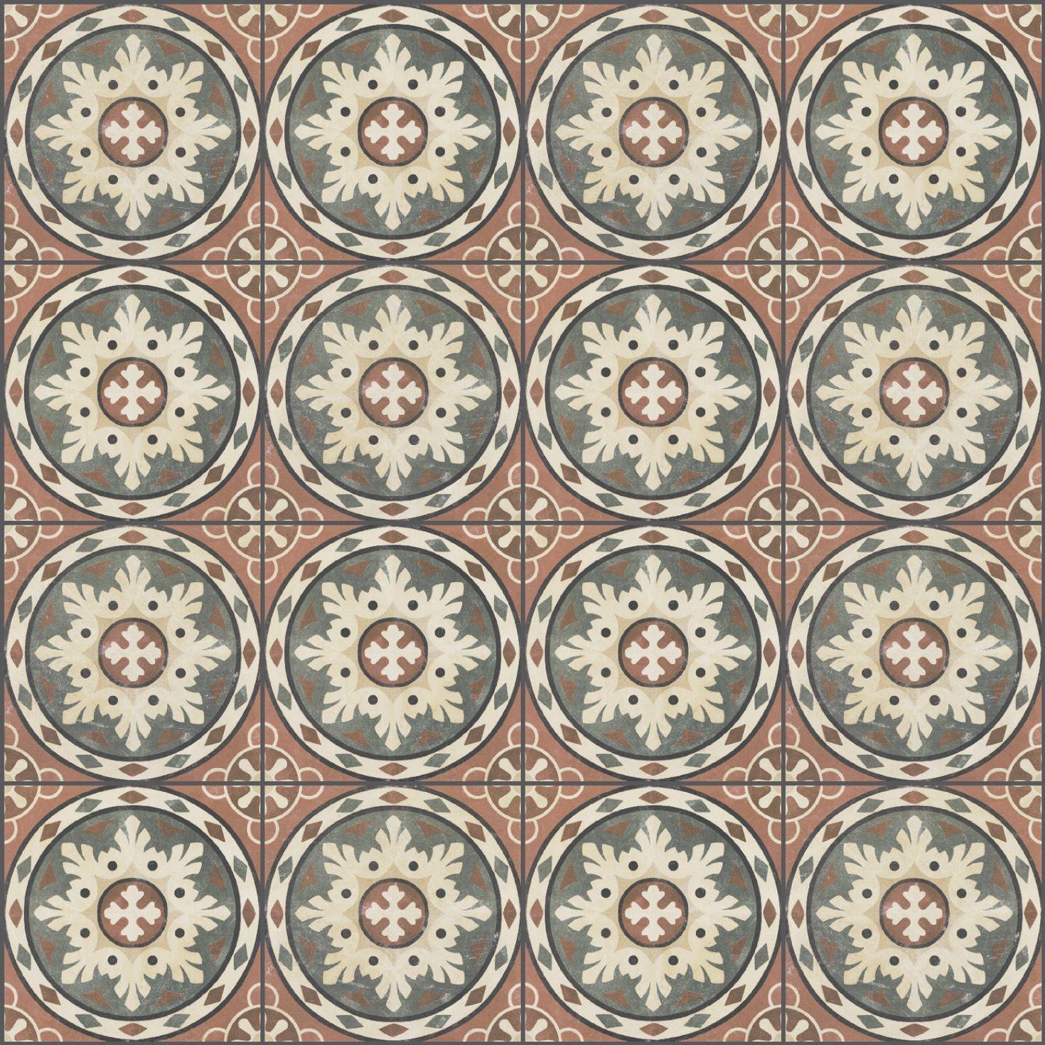 Vintage Ceramic Habana Rosso 25x25