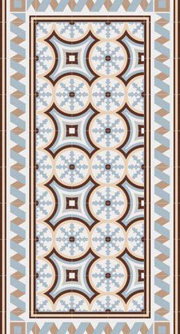 Vives 1900 Florentina 2 celeste bij Vlagsma tegelwalhalla