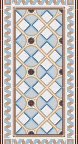 Vives 1900 Montaner Azul bij Vlagsma tegelwalhalla