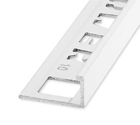 Ox tegelprofiel 10 Wit aluminium bij Vlagsma tegelwalhalla