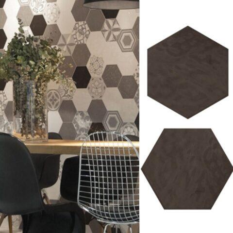 Cifre vodevil antraciet-hexagon tegels-Vlagsma tegelwalhalla-1