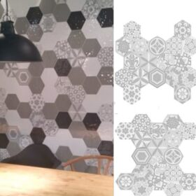Cifre vodevil decor white-hexagon-tegels-Vlagsma tegelwalhalla-3